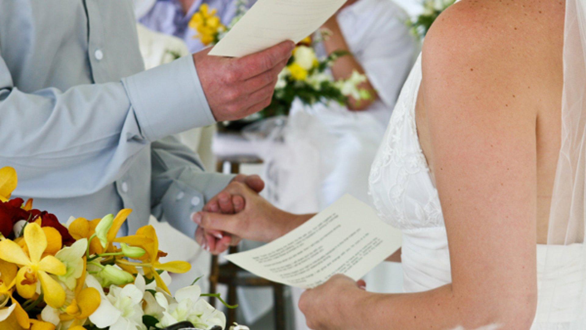 Consejos para escribir los votos matrimoniales